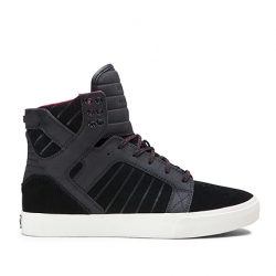 Shoes Supra High Skytop Black/Red 2014 pour homme, pas cher