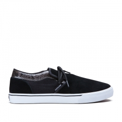Shoes Supra Cuba Low Black/Animal 2014 pour homme, pas cher