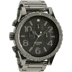 Montre Nixon  48-20 Chrono Polished Gunmetal 2015
