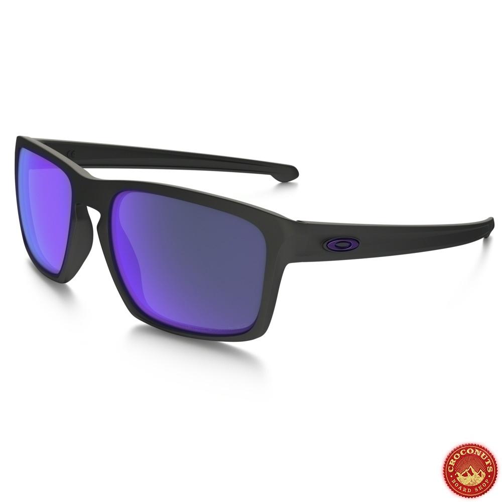 65498c2e73 Lunettes Oakley Sliver Matte Black Violet Iridium Polarisé pour ...
