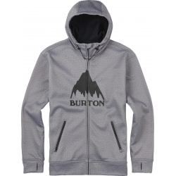 Sweat Burton Bonded Full Zip Monument Heather 2016 pour