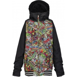 Veste Burton Game Day Marvel True Black 2017 pour junior, pas cher