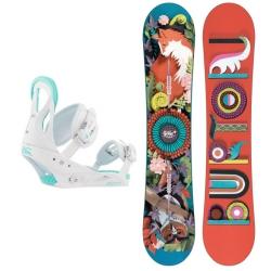 Pack Burton Genie + Burton Stiletto Disc White 2018 pour femme, pas cher