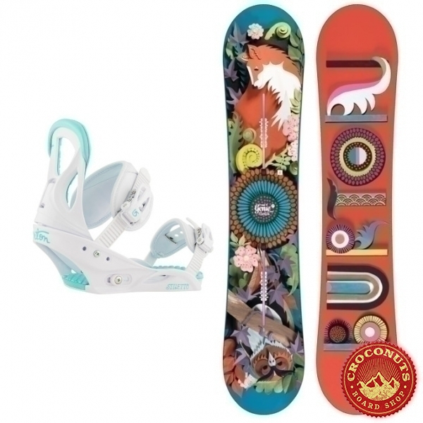 Pack Burton Genie + Burton Stiletto Disc White 2018
