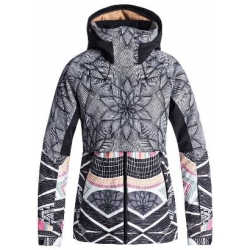 Veste Roxy frozen flow true black pop snow 2019 pour femme, pas cher