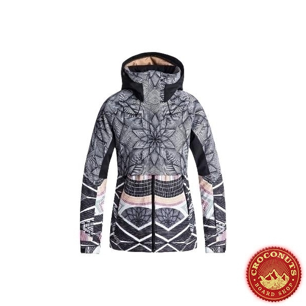 Veste Roxy frozen flow true black pop snow 2019