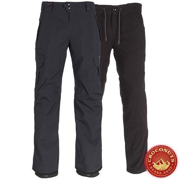 pantalon 686 smarty cargo black 2019
