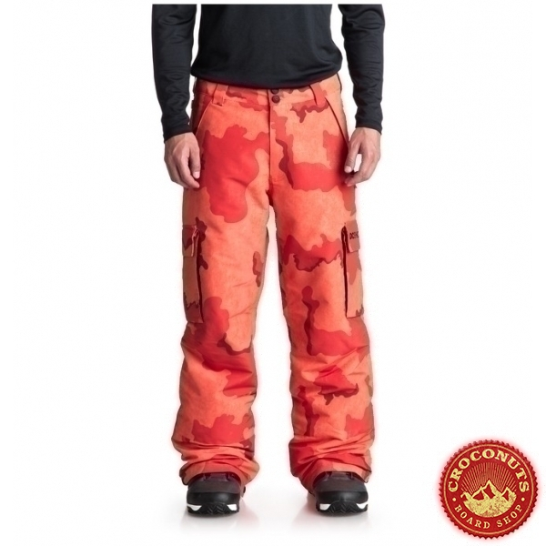 pantalon DC Shoes banshee red camo orange red 2019