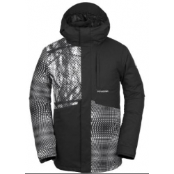 Veste Volcom 17 Forty Insulated Black White 2019 pour homme, pas cher