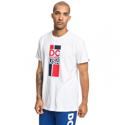 Tee Shirt DC Shoes Separate Coast White 2019 pour homme