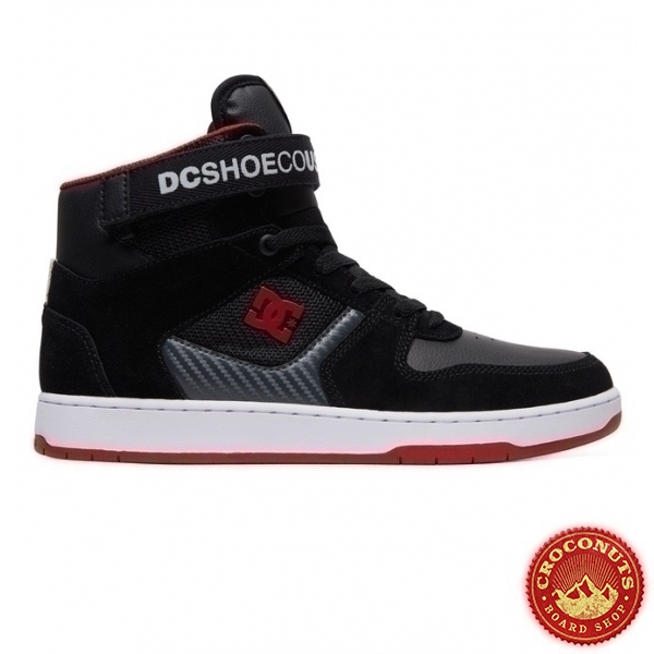 Shoes DC Shoes Pensford Black Dark Grey Athletic Red 2019