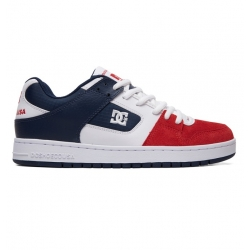 Shoes DC Shoes Manteca White Navy Red 2019 pour homme