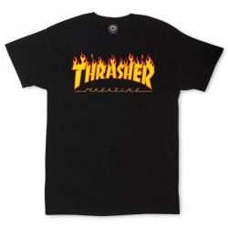 Tee Shirt Thrasher Flame Logo Black 2019 pour homme