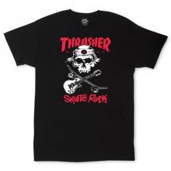 Tee Shirt Thrasher Skate Rock Skull Black 2019 pour homme, pas cher