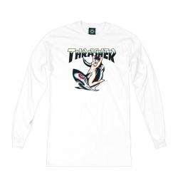 Tee Shirt Thrasher Tatoo White 2019 pour homme, pas cher