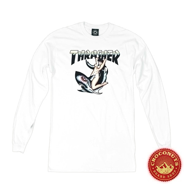 Tee Shirt Thrasher Tatoo White 2019