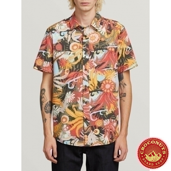 Chemise Volcom Psych Floral Army 2019