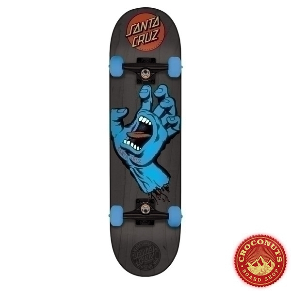 Skate Complet Santa Cruz Mid Screaming Hand Black 7.25 2019