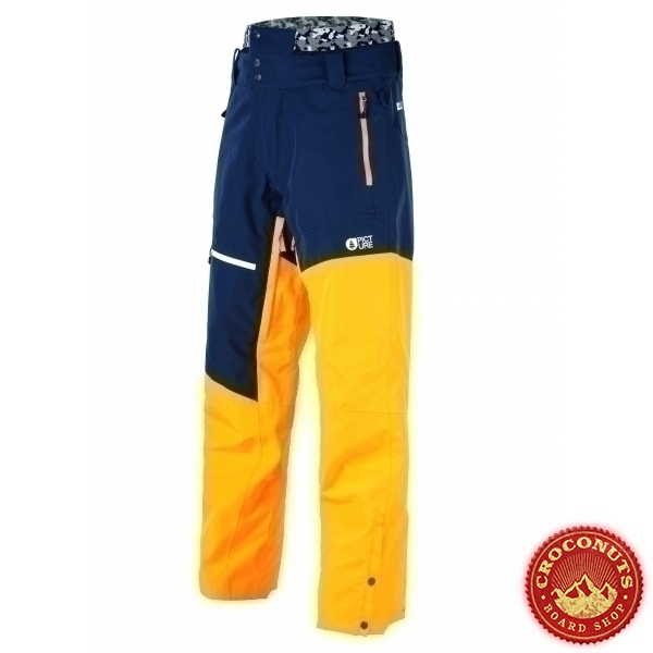 Pantalon Picture Alpin Dark Blue Yellow 2020