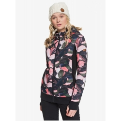 Fleece Roxy Frost Printed Living Coral Plumes 2020 pour femme, pas cher