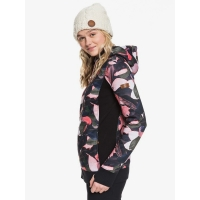 Fleece Roxy Frost Printed Living Coral Plumes 2020