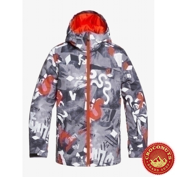 Veste Quiksilver Mission Printed Youth Poinciana Giantforce 2020