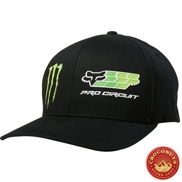 Casquettes FOX X Monster PC Flexfit Black 2020