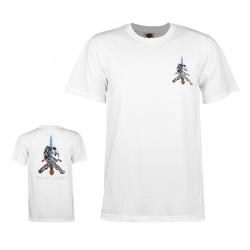 Tee ShirtPowell Peralta Skull and Sword White 2020 pour