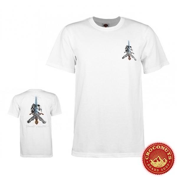 Tee Shirt Powell Peralta Skull and Sword White 2020