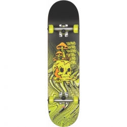 Skate Complet Globe G1 Nature Walk Black Toxic Yellow 2020 pour homme