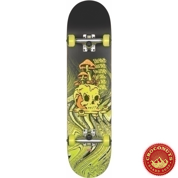 Skate Complet Globe G1 Nature Walk Black Toxic Yellow 8.125 2020