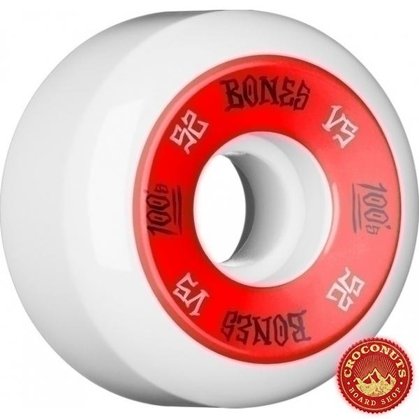 Roues Bones 100's White 52MM 2020