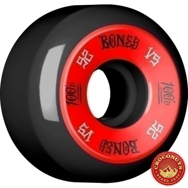 Roues Bones 100's Black 52MM 2020