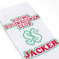 Chaussettes Jacker Business Socks White 2020