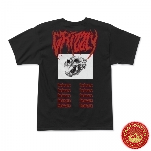 Tee Shirt Grizzly Metalcore BLACK 2020