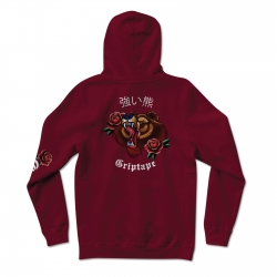 Sweat Grizzly Flash Art Hood BURGUNDY 2020 pour , pas cher