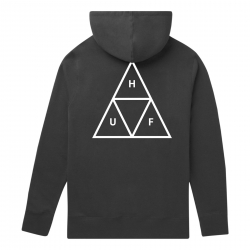 Sweat Huf Hood Essentials Triple Triangle Black 2020 pour , pas cher