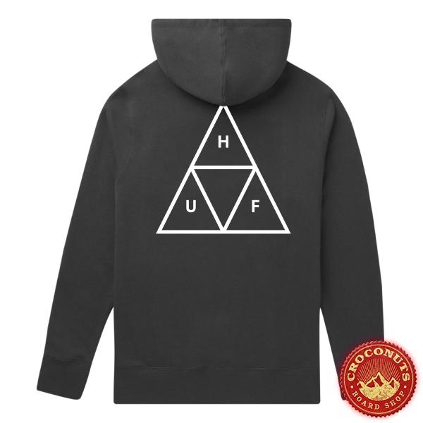Sweat Huf Hood Essentials Triple Triangle Black 2020
