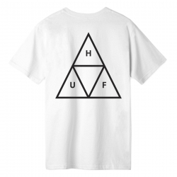 Tee Shirt Huf Essentials Triple Triangle White 2020 pour