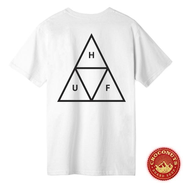 Tee Shirt Huf Essentials Triple Triangle White 2020