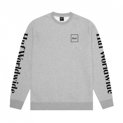 Sweat Huf Hood Essentials Domestic Crew Grey Heather 2020 pour , pas cher