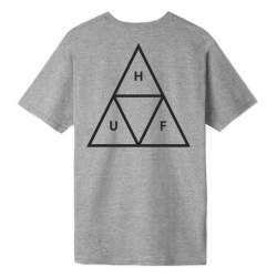 Tee Shirt Huf Essentials Triple Triangle Grey Heather 2020 pour