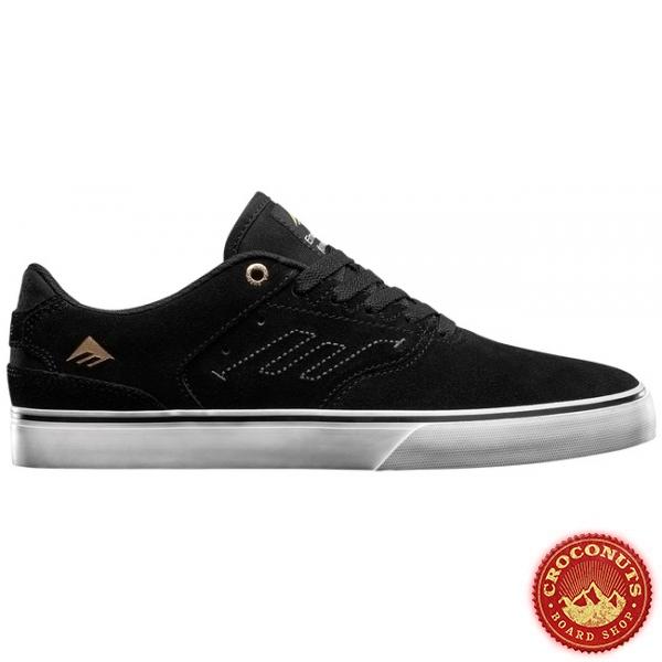 Shoes Emerica Reynolds Low Vulc Black White Gold 2020