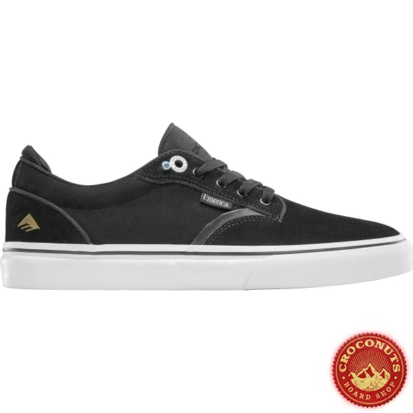 Shoes Emerica Dickson Black White Gold 2020