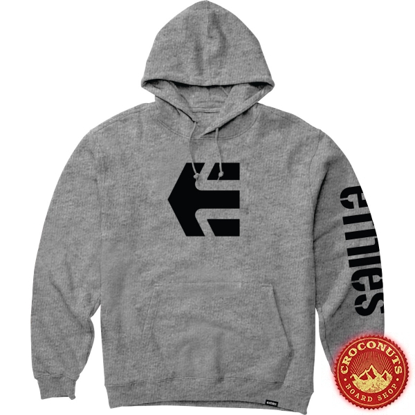 Sweat Etnies Icon Hoodie Heather Grey 2020