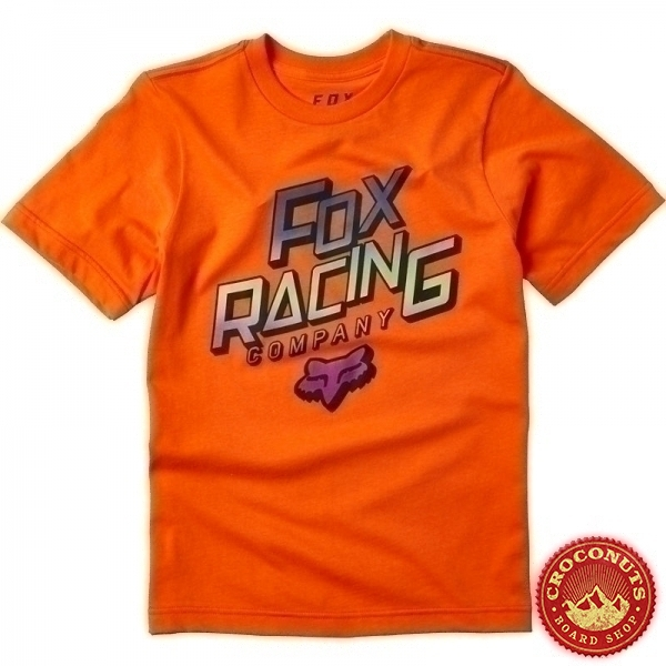Tee Shirt Fox Youth Cruiser Orange Flame 2020