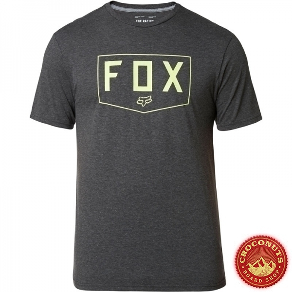 Tee Shirt Fox Shield Tech Heather Black 2020