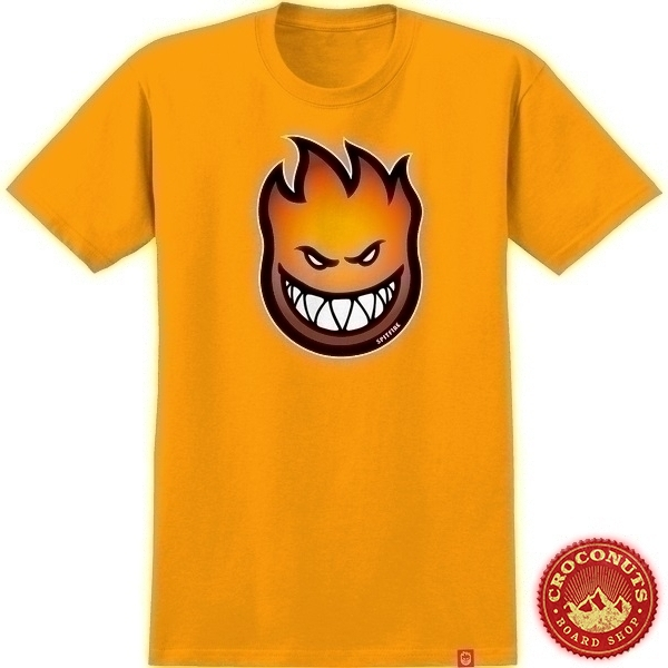 Tee Shirt Spitfire Bighead Fade Fill Gold Red To Orange 2020