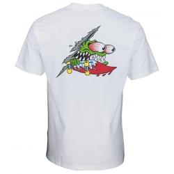 Tee Shirt Santa Cruz Slashed White 2020 pour homme