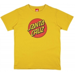 Tee Shirt Santa Cruz Classic Dot Mustard 2020 pour junior